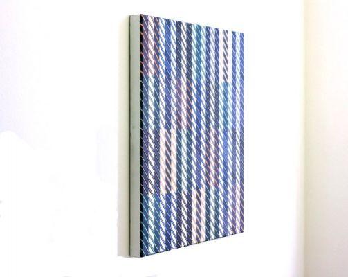 Malerei, Abstraktion,Farbfibration, Malerei, Farbe, Linien