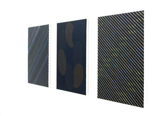 Ausstellungsansicht mit Werken von Christian Eder