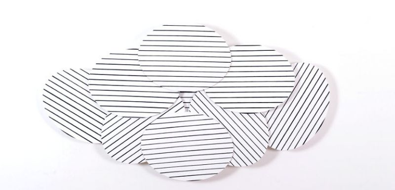 black lines on white panel-painting-object-2013