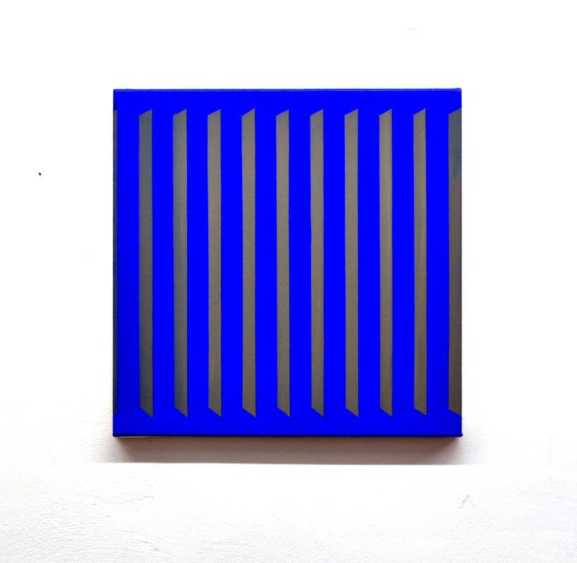 eder-works-grey stripes on blue-painting-bild-2017-berlin