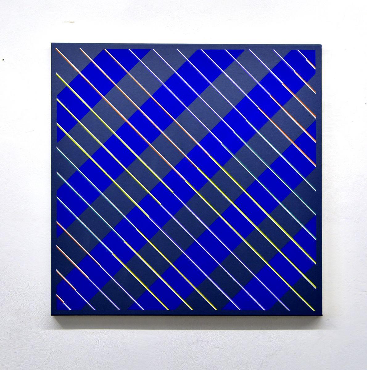 eder-paintings. diagonal stripes-blue-bild-2017-berlin